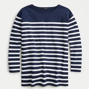 BOGO! J. Crew Navy Breton Stripe Long Sleeve Cotton Top